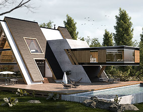 Forest House 02 - villa 3D model