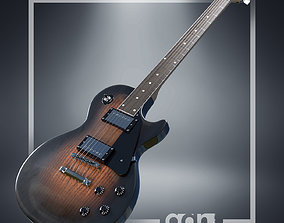 3D rigged Gibson Les Paul Guitar
