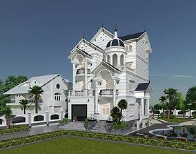 Design a classic style house 3D