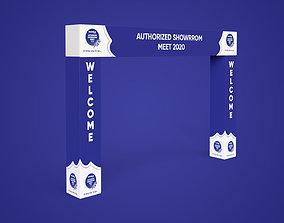 3d Event entry gate 3D model