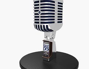 3D model low-poly Vintage Microphone