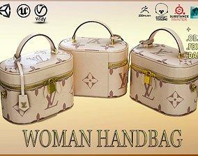 Woman Handbag Louis Vuitton 3D model game-ready PBR
