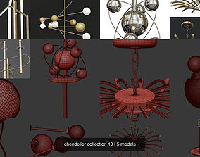 3D model chendelier collection 10