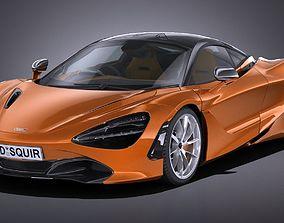 3D asset LowPoly McLaren 720S 2018