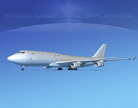 3D model Boeing 747-8 Freighter Bare Metal