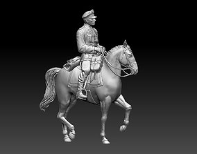 3D print model German officer rider