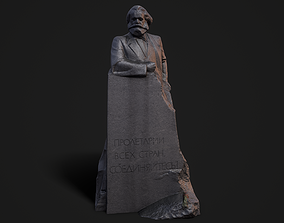 Monument to Karl Marx 3D model