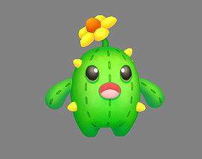 3D model Cartoon Cactus Monster - Cactus Doll