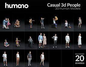 Humano 20-Collection 05 - CASUAL HOME PEOPLE - 20x 3D