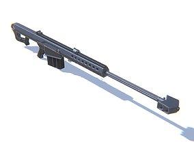 3D asset Sniper Rifle M82