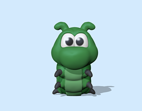 3D print model A cute Caterpillar to decorate and