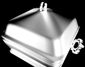Silver Serving Bowl 3D model