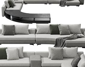 3D model Minotti Daniels sofa