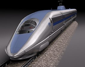 Shinkansen Speed Train 2014 3D model