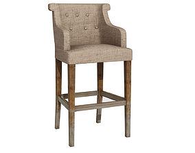 Bar chair 218 3D model