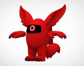 Among Us Red Werewolf 3D asset