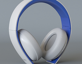 3D model Playstation Wireless Stereo Headset White