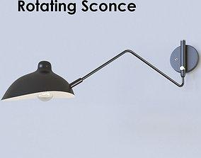 Rotating Sconce Serge Mouille lamp 3D model