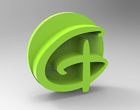 Alphabet stamp plus fondant cutter 3D printable model 2