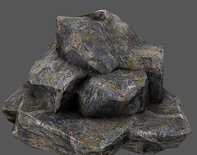 3D model realtime mount tree Rocks