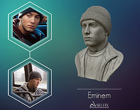 Eminem 3D portrait sculpture