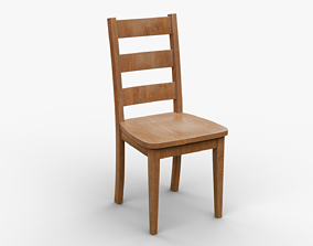 Classic Wooden Chair 1 3D model