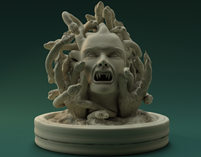 3D print model bust Medusa