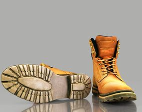 game-ready Boot 3D model low poly