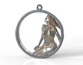 Virgo in circle 3D print model