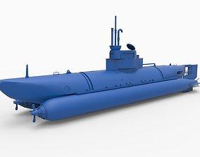 submarine military 3D printable model