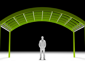 Arched Interlocking Structure Architectural Stand 3D