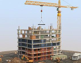 Under Construction Scene Lite Pack 3D asset