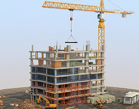 Under Construction Scene Lite Pack 3D asset