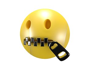 Zipper-Mouth Face v2 3D model