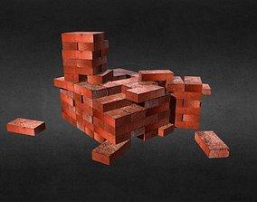 3D model PBR Bricks