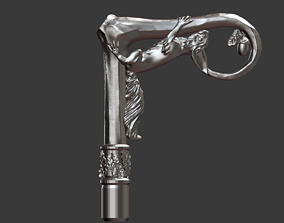 Handle for canes Squirrel 3D printable model