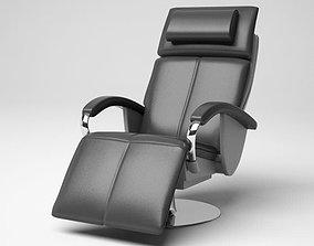 Modern Black Armchair 3D