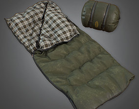3D asset CAM - Sleeping Bag 01 - PBR Game Ready