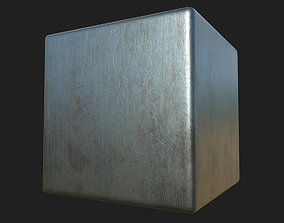 Scratched Steel PBR Texture 3D