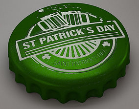 3D model st patrick cap beer
