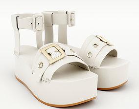 3D model Wedge Sandal