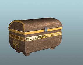 Grecian Chest with Animation 3D model