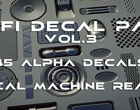 45 plus 1 Scifi Alpha Decal panel pack vol 3 3D
