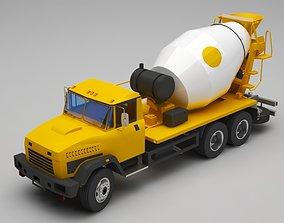 3D Concrete truck