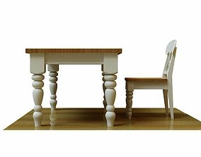 Kitchen Table and Chair 3D