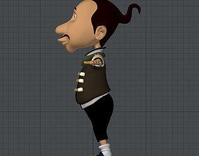 funky guys cartoon rigged 3D asset