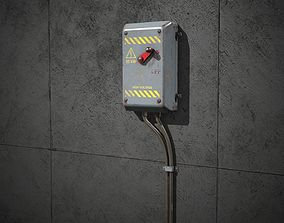 3D asset Electrical Switch for games