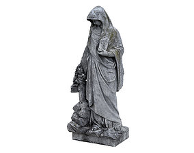 3D model Funeral Sculpture Monument Virgin Mary