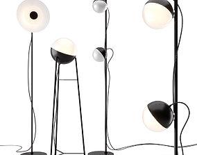 Half and Halos Floor Lamp by Milan Iluminacion 3D model