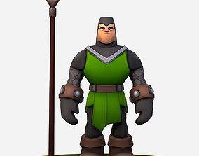 3D model Handpaint Cartoon Medieval Footman Character